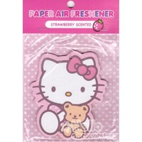 Sanrio Hello Kitty Paper Car Air Freshener : Strawberry Scented #1 $4.25