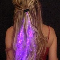 Glowbys LED Fiber Optic Light-Up Hair Barrette - Rainbow