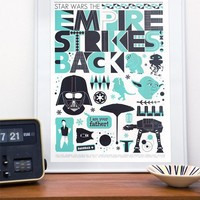 Star Wars print poster movie The Empire Strikes Back by handz