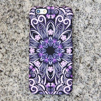 Native Purple Floral iPhone 6s Case | iPhone 6 plus Case | iPhone 5 Case | Galaxy Case 3D 047