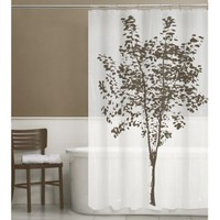 PEVA Arbor Shower Curtain with Plastic Hooks
