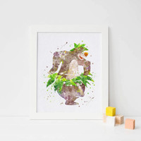The Jungle Book party baloo watercolor disney jungle book birthday jungle book nursery jungle poster jungle book print jungle book wall art