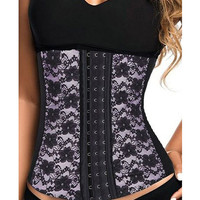 Strapless Floral Lace Stomach Bodycon Corselet