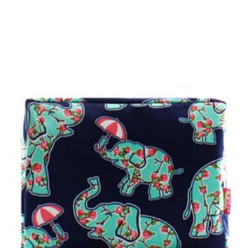Elephant & Umbrella Cosmetic Bag