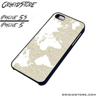 World Map On The Book For iPhone Cases Phone Covers Phone Cases iPhone 5 Case iPhone 5S Case Smartphone Case