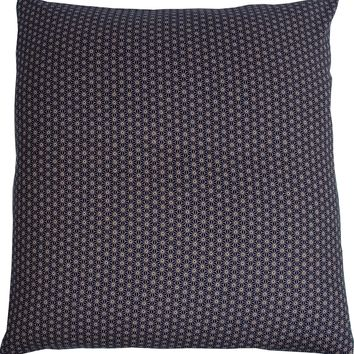 J-Life Asa No Ha Navy #2 Zabuton Floor Pillow