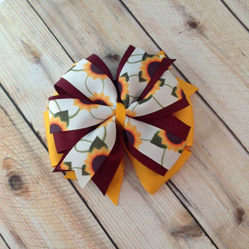 Dog Collar Bow // Sunflowers // Flower Bow // Pet Accessory // Dog Collar Bow // Autumn Bow // Flower Bow // Hair Accessory // Dog Bow