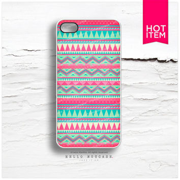 iPhone 4 and iPhone 4S case Aztec Navajo Geometric Style Pattern, Plastic iPhone Case, Tribal on Wood iPhone cover I63