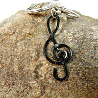 Treble Clef Purse Charm, Musical Note, Key Ring Charm, Treble Clef purse pull,,  Lobster Clasp,Treble Clef Charm, Musical Gift