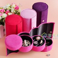 Cute Travel Carrying Jewelry Display Storage Case Roll Box 3 Colors