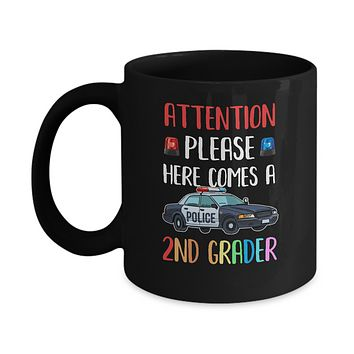 Kids First Day Of School 2019 2nd Grade Police Attention Please Mug