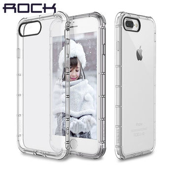 For Apple iphone 7 Case ROCK Original Fence Drop Protection Clear Anti knock Case for iPhone7 Plus Back Cover
