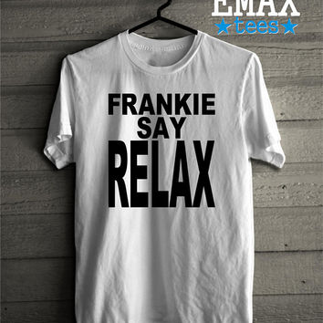 Friends T-shirt Frankie Say Relax, Ross - Rachel Tshirt, Friends Tv Show Tees