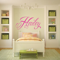 Swirly Name Decal, Wall Decal ,Girl Bedroom, Baby Nursery Decal,Name Decals, Nursery Name Decals, Teen Girl Wall Decals, Baby Name Decal,