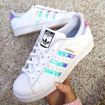 Hot - Adidas Superstar Holographic Design