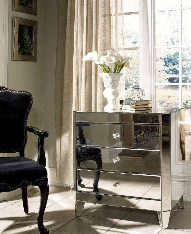 Harlow Mirrored Nightstand By Glam From Glamfurniture Com My