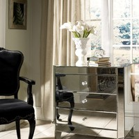 Harlow Mirrored Nightstand by Glam Furniture