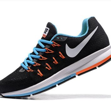 NIKE fashion casual breathable running shoes Black£¨white hook£©