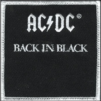 AC/DC Men's Embroidered Patch Black