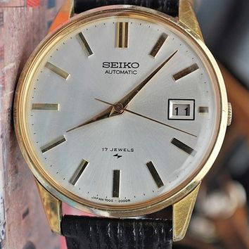 Seiko Automatic Calibre 7005A W/Date Vintage Mens Pre-Owned Watch 1970's....36mm