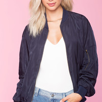 Love Me Text Bomber Jacket