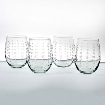 Rolf Glass Pearls 4-pc. Red Wine Tumbler Set (Pearl/Red/Merlot)