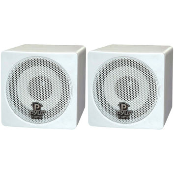 "Pyle Home 3"" 100-watt Mini-cube Bookshelf Speakers (white)"