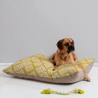 Heather Dutton Diamond In The Rough Gold Pet Bed