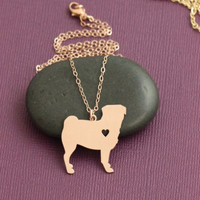 Limited Edition Pug Heart Necklace