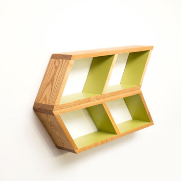 Floating Arrow Shelves - Mid Century Modern Shelving - Chevron Wall Shelf - Geometric Home Decor - Bathroom Furniture - Wood Bedside Shelf