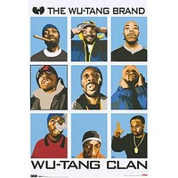 THE WU-TANG CLAN POSTER Amazing Collage RARE HOT NEW 24x36