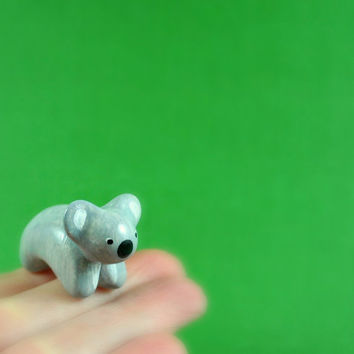 Motion Koala - Hand Sculpted Miniature Polymer Clay Animal