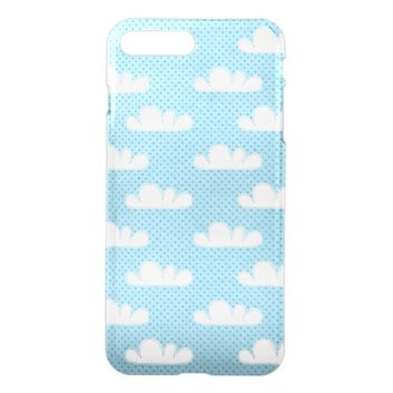 Cute Blue Cloud Design iPhone 7 Plus Case