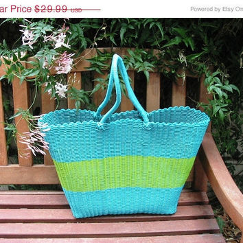 20% OFF SUMMER SALE Vintage Beach Bag Grocery Bag Book Bag