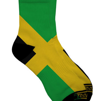Jamaica Flag AOP Adult Short Socks All Over Print