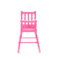 1 Pcs Mini Doll High Chair Plastic Feeding Chair for Barbie Doll Accessories F14