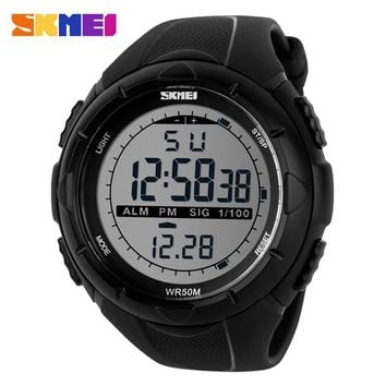 2017 New Skmei Brand Men LED Digital Military Watches Fashion Sports Watch Dive Swim Outdoor Wristwatches Running Clock 1025