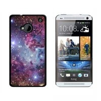 Fox Fur Nebula - Galaxy Space - Snap On Hard Protective Case for HTC One 1 - Black