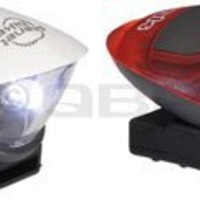 Planet Bike 3042-1 Spok LED Light Set with 1 LED Headlight and 1 LED Tail Light