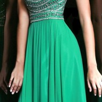Beaded Strapless Gown by Sherri Hill