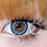 GEO Super Nudy Quarter Gray Circle Lenses Colored Contacts Cosmetic Color Circle Lens | EyeCandy's