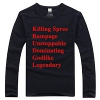LOL League of Legends Cosplay Outfit Black long sleeve