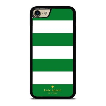 KATE SPADE GREEN STRIPE iPhone 4/4S 5/5S/SE 5C 6/6S 7 8 Plus X Case
