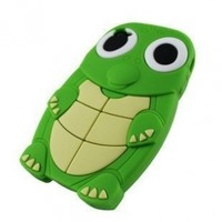 Cute Turtle Animal Silicone Case for Iphone 4 and 4S-Green