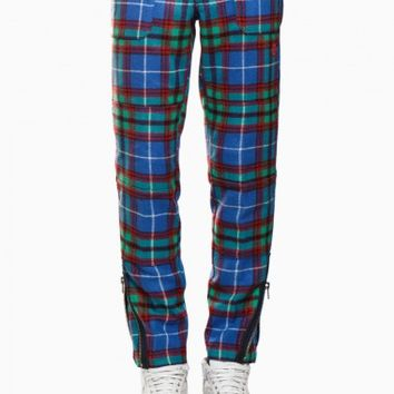 Tartan trousers from F/W2015-16 Roundel London collection in blue