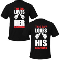 this girl loves his boyfriend this guy loves her girlfriend Couple Tshirts