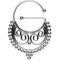 Stainless Steel Barbell Eastern Flair Universal Nipple Ring   Body Candy Body Jewelry