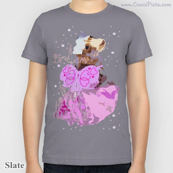 Disney Princess Puppy Cinderella KIDS T-shirt Tee Shirt Children Dachshund A Dream is a Wish Your Heart Makes Movie Girl Pink Grey Pastel