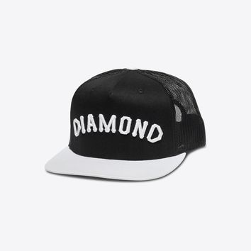 Diamond Arch Snapback in Black - SNAPBACKS - HEADWEAR