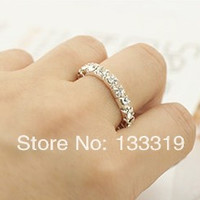 Fashion Romantic Women Assorted Color Crystal Ring Brillant Jewelry VEGAS  AUSTRIAN RHINESTONE CRYSTAL STRETCH RING